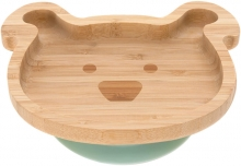 Lässig Bamboo childrens plate with suction pad Little Chums Dog