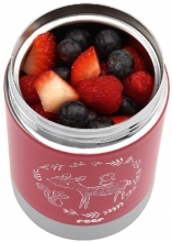 REER Stainless steel thermal container ColourDesign 300ml berry red