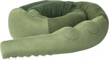 Sebra Knitted Cushion XXL Sleepy Croc pine green