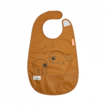 Done by Deer bib with velcro Sea Friends mustard