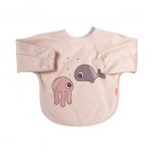 Done by Deer sleeved bib 6-18m Sea Friends powder