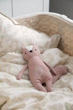 Sebra Bed linen organic cotton Baby 100x70 cm Forest straw beige