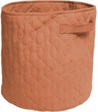 Sebra Quilted basket 48l sweet tea brown