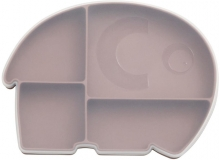 Sebra Silicone plate with lid Fanto rustic plum