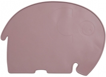 Sebra Silicone placemat Fanto the elephant rustic plum