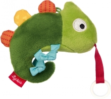 Sigikid Chameleon toy with pacifiert holder RedStars