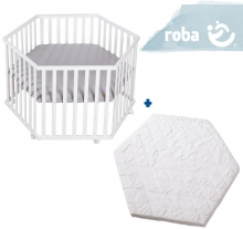 roba Play pen roba Style grey incl. mattress