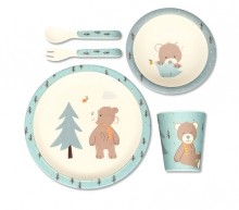 Sterntaler Childrens dinner set with wood fibre Ben