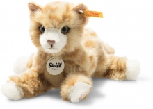 Steiff cat Mimmi 24 red coloured lying