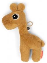 Done by Deer Tiny sensory rattle Raffi mustard