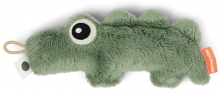 Done by Deer Tiny sensory rattle Croco green