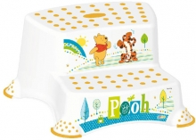 Keeeper Step stool with 2-steps Winnie Puuh white