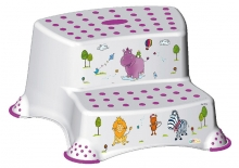 Keeeper Step stool with 2-steps Hippo white