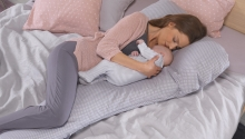 Theraline my7 Sleeping and nursing pillow Design 146 clay grey Bamboo Collection