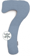 Theraline my7 sleeping and nursing pillow design 154 melange blue-grey bamboo collection