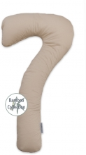 Theraline my7 sleeping and nursing pillow design 166 cappuccino bamboo collection
