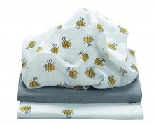Odenwälder Mull diapers honey bee 3pack