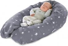 Theraline nursing pillow design 170 melange medium grey, bamboo collection