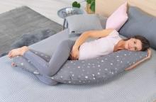 Theraline nursing pillow original design 171 bio-jersey white