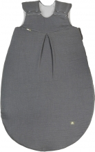 Odenwälder Muslin sleeping bag padded 80 cm grey