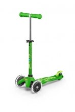 Micro mini Kickboard MMD051 deluxe LED green