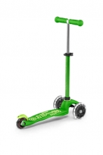 Micro mini scooter MMD051 deluxe LED green