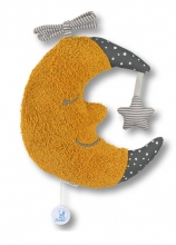 Sterntaler Musical toy Large Moon yellow