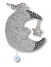 Sterntaler Musical toy Large Moon grey