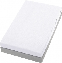 Alvi Jersey fitted sheet white/silver 40x90cm 2ps.