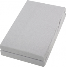 Alvi Jersey fitted sheet silver 40x90cm 2ps.