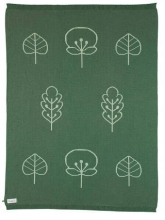 Sterntaler Strick-Schmusedecke dunkelgrün