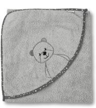 Sterntaler hooded bath towel Baylee grau 100x100