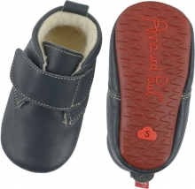 Anna and Paul Leather Toddler shoe Basic with rubber sole size L-22 navy