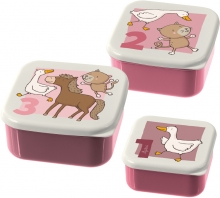 Sigikid 24987 Snack box Set Farm Friends 3pcs.