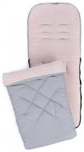 Liebes von Priebes Universal footmuff Ben ripp sepia light pink/grey