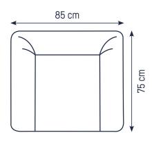 Zöllner Changing mat Softy uni light grey 75x75 cm