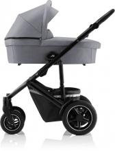 Britax Römer SMILE III Frost Grey/black COMFORT PLUS iSENSE STAY COOL BUNDLE (incl. Stroller, carrycot, BABY-SAFE iSENSE Smile Indigo Blue, Base)
