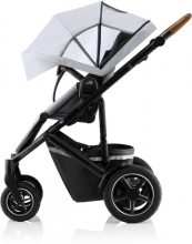 Britax Römer SMILE III Frost Grey/brown COMFORT PLUS iSENSE STAY COOL BUNDLE (incl. Stroller, carrycot, BABY-SAFE iSENSE Smile Midnight Grey, Base)