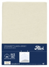 ALVI Fitted sheet tricot 70 x 140 cm natural