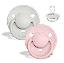 BIBS de lux pacifier silicone haze/blossom 0-36 month