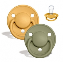BIBS de lux pacifier silicone honey bee/olive 0-36 month