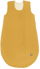 Odenwälder Musselin Sommer-Schlafsack 70 cm mustard