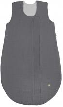 Odenwälder Muslin summer sleeping bag 80 cm grey