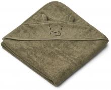 Liewood Augusta Hooded towel Mr bear khaki