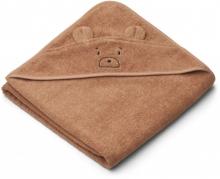 Liewood Augusta Hooded towel Mr bear tuscany rose