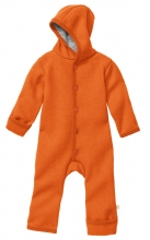 Disana boiled wool overall 86/92 orange