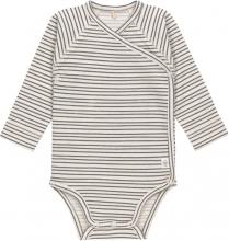 Lässig Long Sleeve Body GOTS 50/56 Striped grey/anthracite