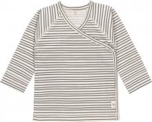 Lässig Kimono Shirt GOTS 50/56 Striped grey/anthracite