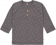 Lässig Long Sleeve Shirt GOTS 74/80 Spots anthracite