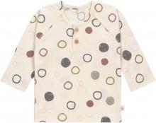 Lässig Long Sleeve Shirt GOTS 86/92 Circles off-white